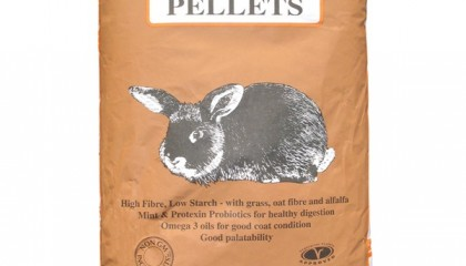RABBIT NATURAL PELLETS, ALLEN & PAGE