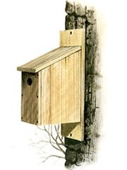 NESTBOX SLANTED ROOF FRONT OPENING