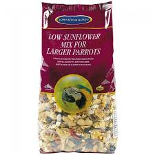 PARROT MIX, LOW SUNFLOWER FOR LARGER PARROTS 12.5kg J&J